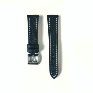 Black - Full Grained Epsom Leather Strap