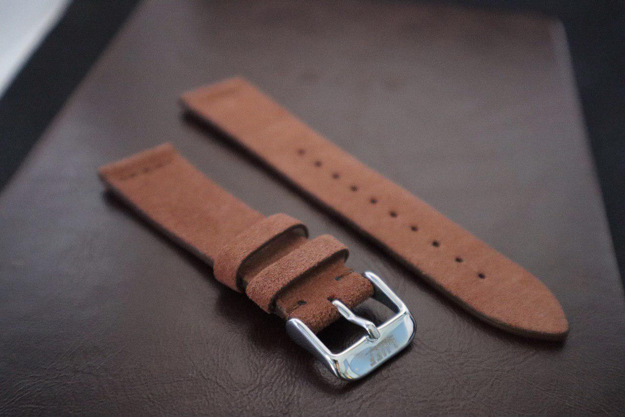 Dark Brown - Suede Leather Strap