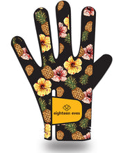 Load image into Gallery viewer, Women's Leather Golf Glove - Aloha! Black - Eighteen Eves