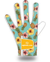 Load image into Gallery viewer, Women's Leather Golf Glove - Aloha! White - Eighteen Eves