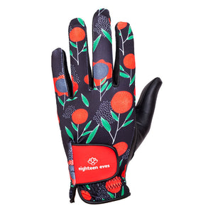 Women's Leather Golf Glove - Choose Love Red - Eighteen Eves