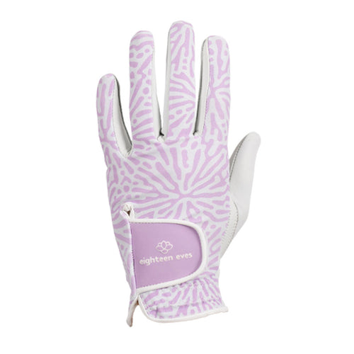 Women's Leather Golf Glove - Living Coral Purple