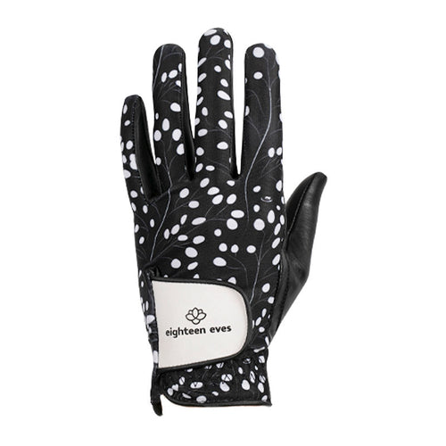 Women's Leather Golf Glove - The Darling Buds Black