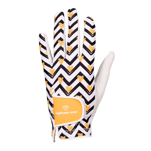 Women's Leather Golf Glove - Love Bug White - Eighteen Eves