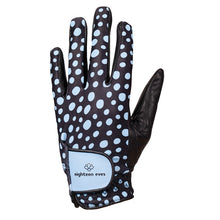 Load image into Gallery viewer, Women's Leather Golf Glove - Seeing Spots Sea Blue - Eighteen Eves