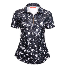 Load image into Gallery viewer, Classic Polo Shirt - Floral Luxe Black (COMING SOON) - Eighteen Eves