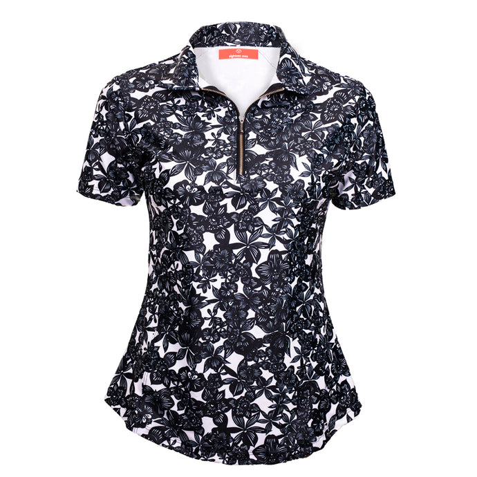 Classic Polo Shirt - Floral Luxe Black (PRE ORDER FOR AUGUST) - Eighteen Eves