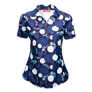 Classic Polo Shirt - Blossom Blue (PRE ORDER FOR AUGUST) - Eighteen Eves