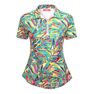 Classic Polo Shirt - Tropical Peacock (PRE ORDER FOR AUGUST) - Eighteen Eves