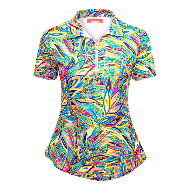 Classic Polo Shirt - Tropical Peacock (COMING SOON) - Eighteen Eves