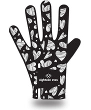 Load image into Gallery viewer, Women's Leather Golf Glove - Queen of Hearts Black - Eighteen Eves