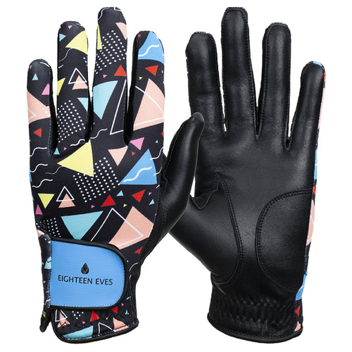 Women's Leather Golf Glove - Rad Times Black
