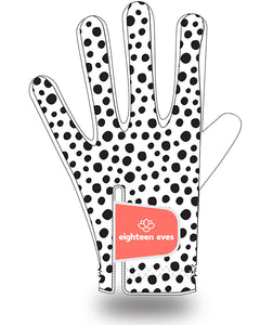 Women's Leather Golf Glove - Well Spotted White - Eighteen Eves