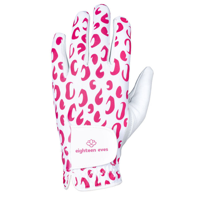 Women's Leather Golf Glove - The Pink Jaguar - Eighteen Eves