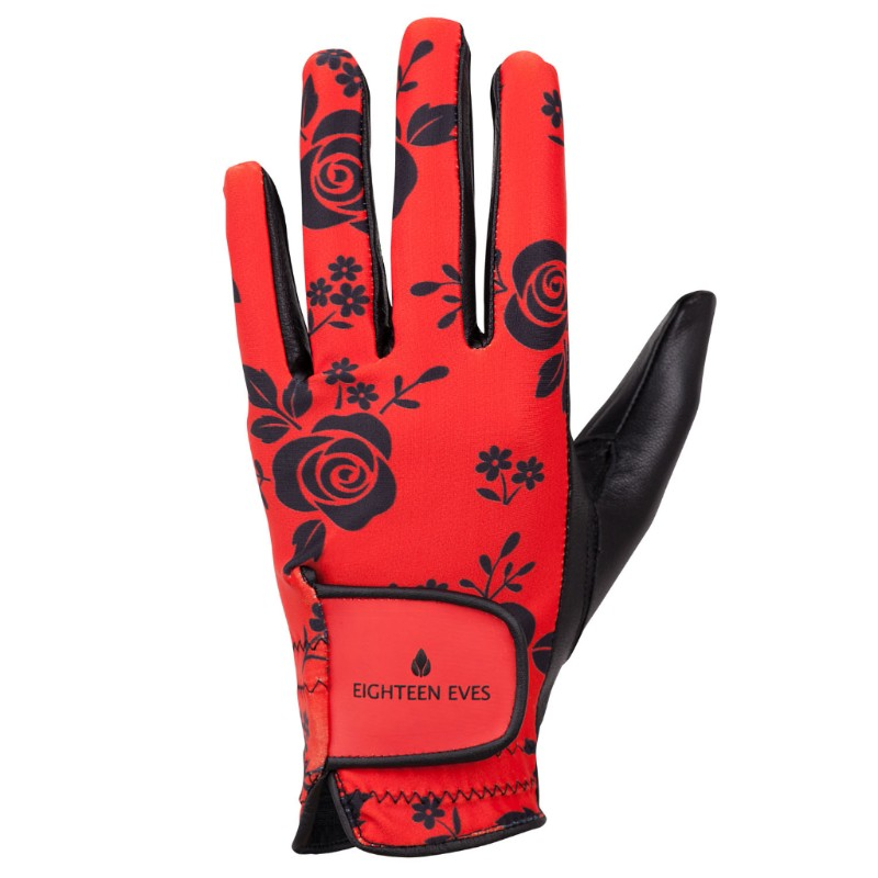Women's Leather Golf Glove - Roses are Black