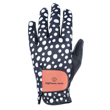 Load image into Gallery viewer, Women's Leather Golf Glove - Well Spotted Black - Eighteen Eves