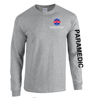 Men's Heavy Cotton Long Sleeve T-Shirt Paramedic