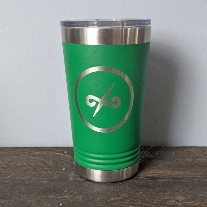 16 oz Green Tumbler with Balanced Direction Jeremiah Craig Logo