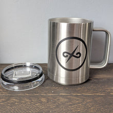 Load image into Gallery viewer, 15 oz Stainless Mug with Balanced Direction Jeremiah Craig Logo