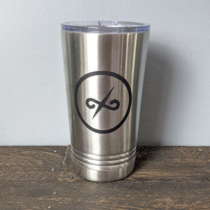 16 oz Stainless Tumbler with Balanced Direction Jeremiah Craig Logo