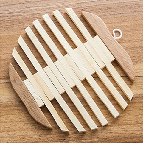 Korean Hollow Wood Cup Coaster Dish Plates Mats Placemat Table Decoration Apple/Fish Style Pad Dining Room Gadget