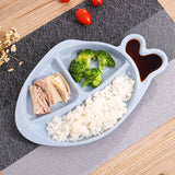 DINIWELL Wheat Straw Dumplings Tray Fish Shaped Dishes Snacks Plates Kitchen Utensils Tableware Set Dishes Children Dinnerware