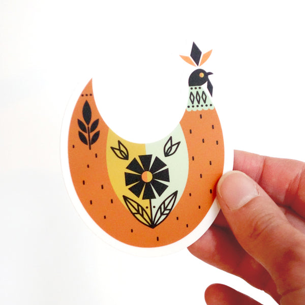 Vinyl Chicken Sticker-FREE SHIPPING