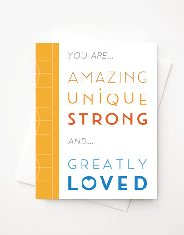Greatly Loved, A2 greeting card with envelope