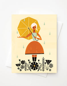 April Showers, Blank A2 greeting card with envelope