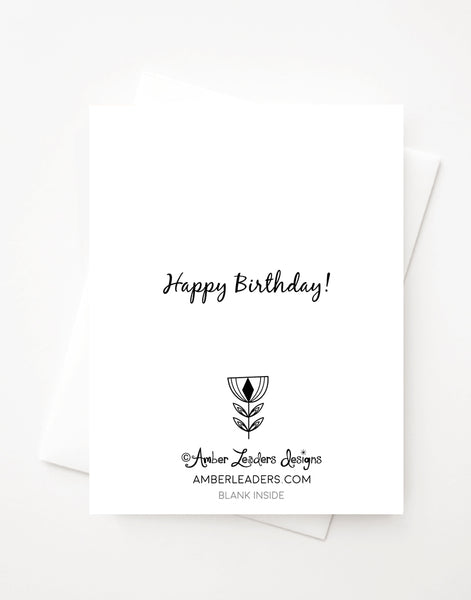 Happy Birthday Presents, Blank A2 greeting card with envelope