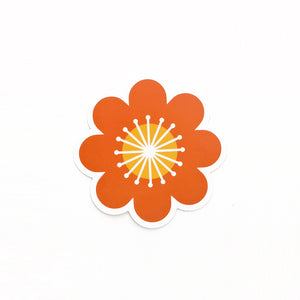 Vinyl Bold Flower Sticker- FREE SHIPPING