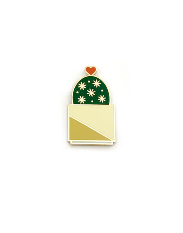 Hearty Cactus Hard Enamel Pin
