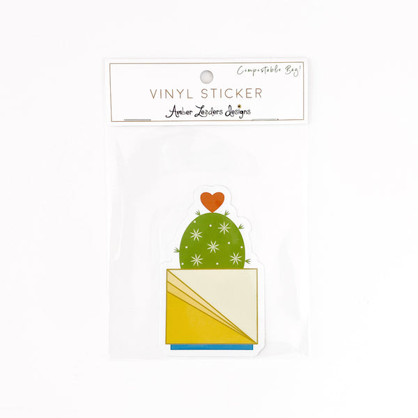 Vinyl Hearty Cactus Sticker- FREE SHIPPING