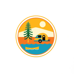Camping Adventures Vinyl Sticker-FREE SHIPPING