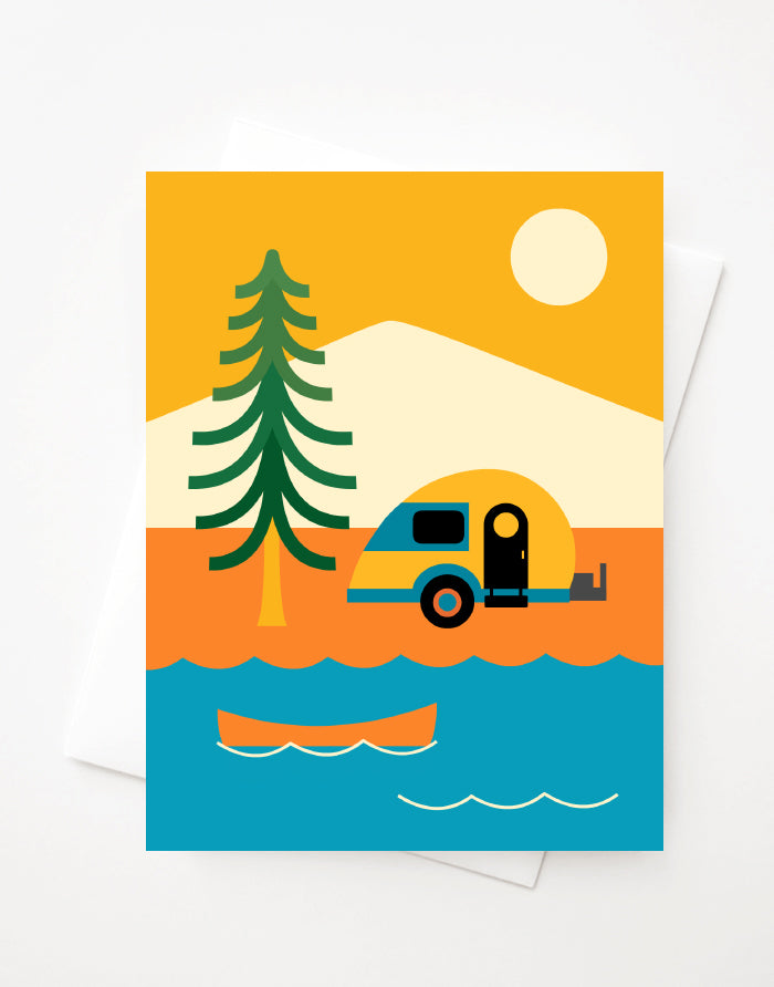 Camping Adventures Blank A2 greeting card with envelope