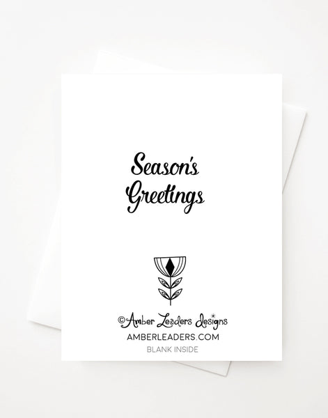 Season's Greetings Tree, Blank A2 greeting card or Boxed Set Option