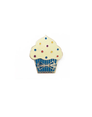Blue Cupcake Hard Enamel Pin
