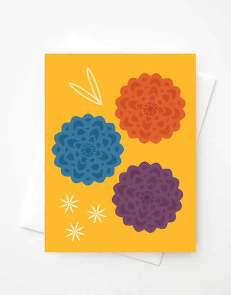 Dahlia, A2 greeting card with envelope