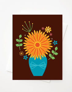 Fall Bouquet, Blank A2 greeting card with envelope