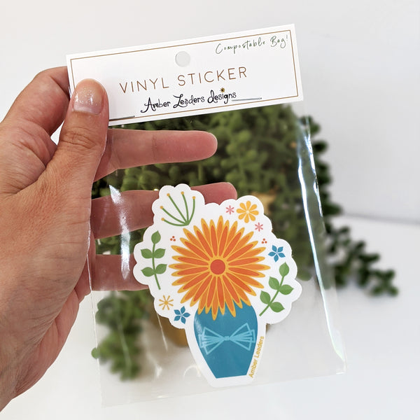 Fall Bouquet Vinyl Sticker-FREE SHIPPING