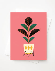 Fiddle Leaf, Blank A2 greeting card with envelope