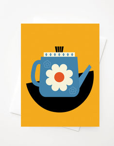 Fika Kettle, Blank A2 greeting card with envelope
