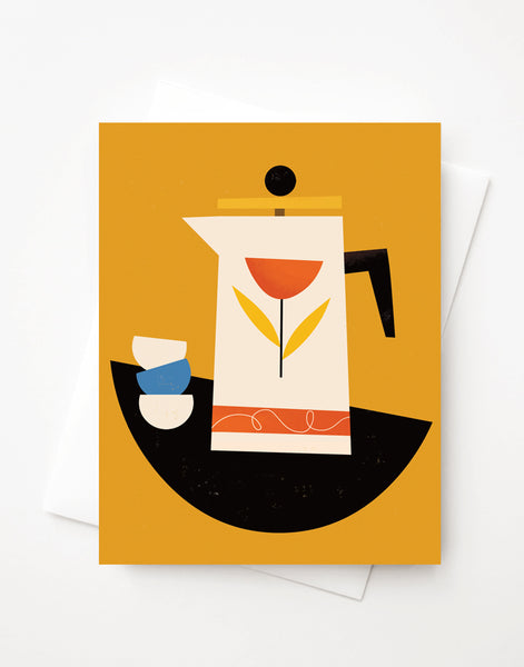 French Press, Blank A2 greeting card with envelope