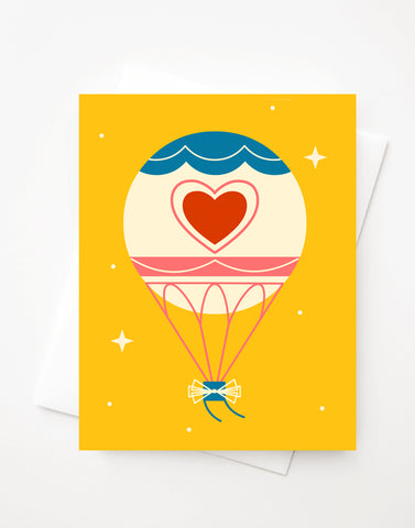 Hot Air Balloon, Blank A2 greeting card with envelope