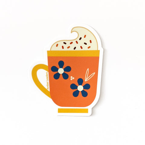 Hot Cocoa Vinyl Sticker-FREE SHIPPING