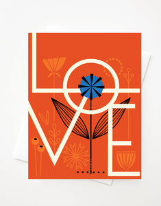 Love, A2 greeting card with envelope