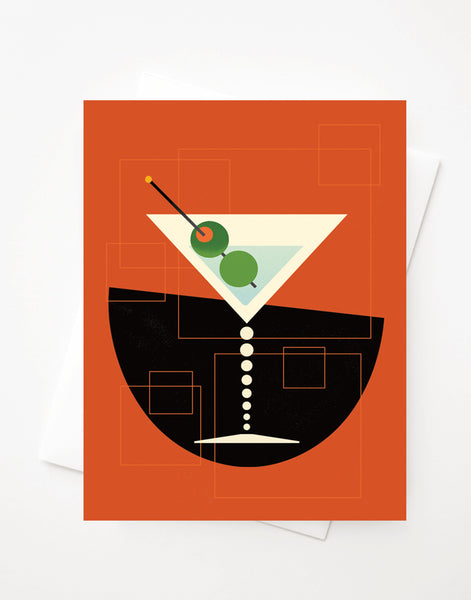 Martini, Blank A2 greeting card with envelope