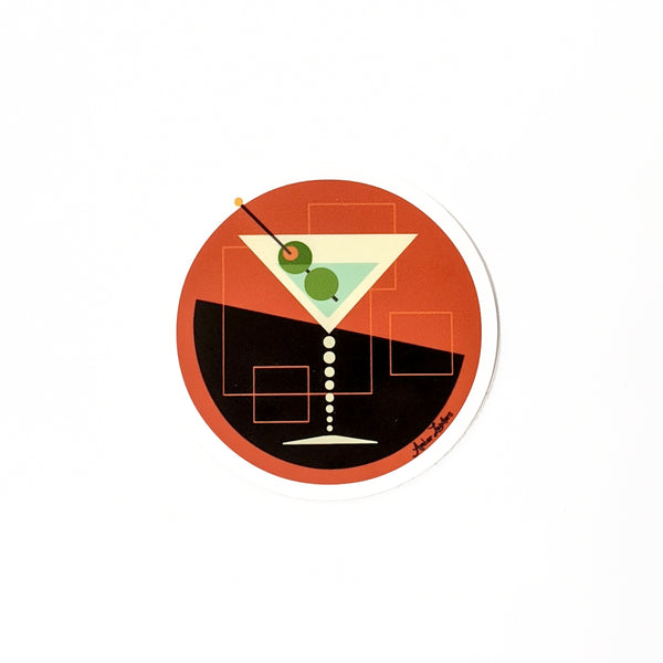 Martini Vinyl Sticker-FREE SHIPPING