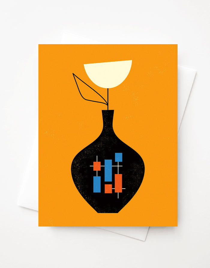 Modern Vase, A2 greeting card with envelope