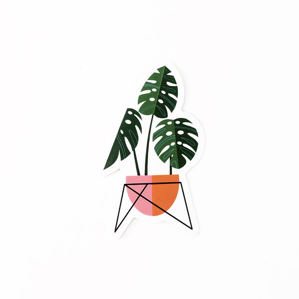 Monstera Sticker- FREE SHIPPING